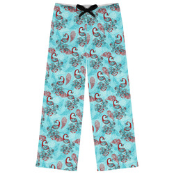 Peacock Womens Pajama Pants (Personalized)