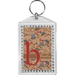 Vintage Hipster Bling Keychain (Personalized)