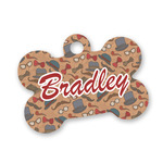 Vintage Hipster Bone Shaped Dog Tag (Personalized)