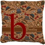 Vintage Hipster Faux-Linen Throw Pillow (Personalized)