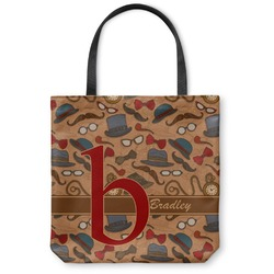 """Vintage Hipster Canvas Tote Bag - Large - 18""""x18"""" (Personalized)"""