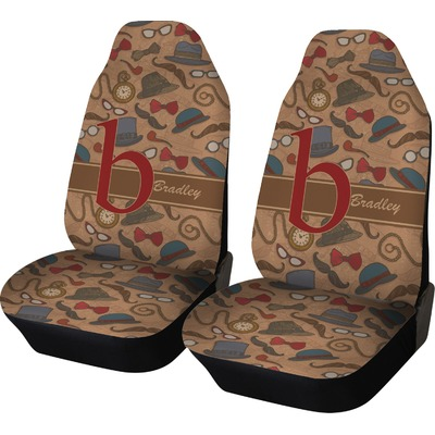 Vintage Hipster Car Seat Covers (Set of Two) (Personalized)