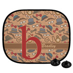 Vintage Hipster Car Side Window Sun Shade (Personalized)
