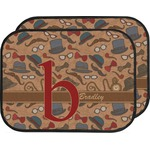 Vintage Hipster Car Floor Mats (Back Seat) (Personalized)