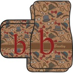 Vintage Hipster Car Floor Mats (Personalized)