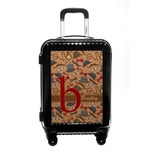 Vintage Hipster Carry On Hard Shell Suitcase (Personalized)