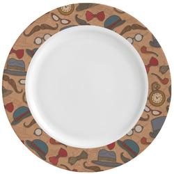Vintage Hipster Ceramic Dinner Plates (Set of 4) (Personalized)