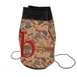 Vintage Hipster Neoprene Drawstring Backpack (Personalized)