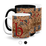 Vintage Hipster Coffee Mugs (Personalized)