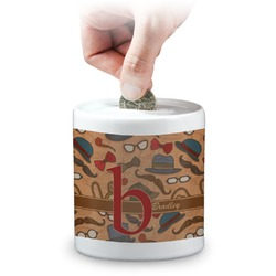 Vintage Hipster Coin Bank (Personalized)