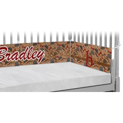 Vintage Hipster Crib Bumper Pads (Personalized)