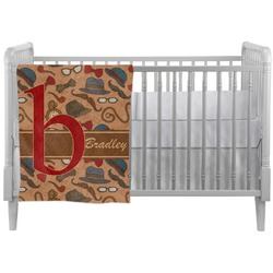Vintage Hipster Crib Comforter / Quilt (Personalized)