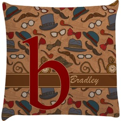 Vintage Hipster Decorative Pillow Case (Personalized)