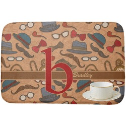 Vintage Hipster Dish Drying Mat (Personalized)