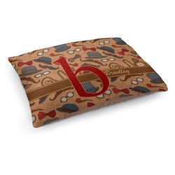 Vintage Hipster Dog Pillow Bed (Personalized)