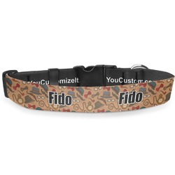 Vintage Hipster Deluxe Dog Collar (Personalized)