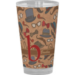 Vintage Hipster Drinking / Pint Glass (Personalized)