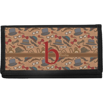 Vintage Hipster Canvas Checkbook Cover (Personalized)