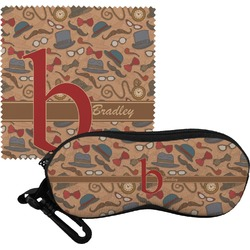 Vintage Hipster Eyeglass Case & Cloth (Personalized)