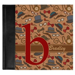 Vintage Hipster Genuine Leather Baby Memory Book (Personalized)