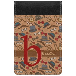 Vintage Hipster Genuine Leather Small Memo Pad (Personalized)