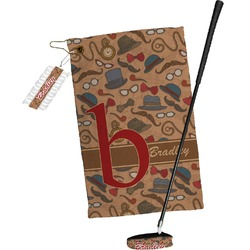 Vintage Hipster Golf Towel Gift Set (Personalized)