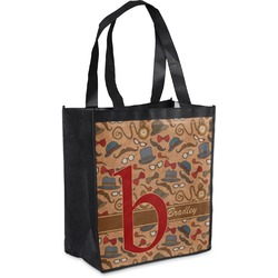 Vintage Hipster Grocery Bag (Personalized)