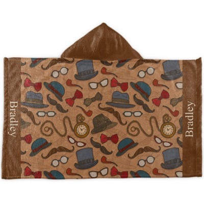 Vintage Hipster Kids Hooded Towel (Personalized)