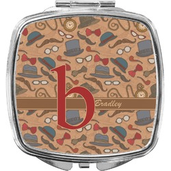 Vintage Hipster Compact Makeup Mirror (Personalized)