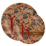 Vintage Hipster Melamine Plate (Personalized)