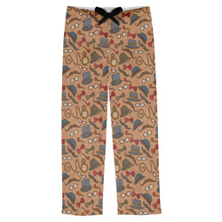 Vintage Hipster Mens Pajama Pants (Personalized)
