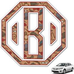 Vintage Hipster Monogram Car Decal (Personalized)