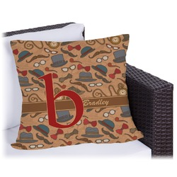 Vintage Hipster Outdoor Pillow (Personalized)