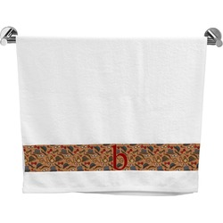 Vintage Hipster Bath Towel (Personalized)
