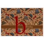 Vintage Hipster Laminated Placemat w/ Name and Initial