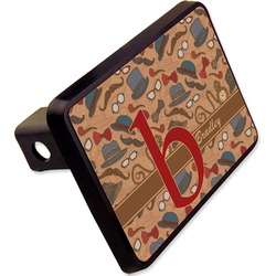 "Vintage Hipster Rectangular Trailer Hitch Cover - 2"" (Personalized)"