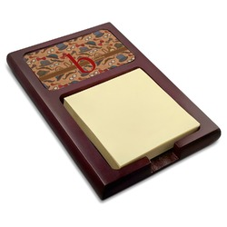 Vintage Hipster Red Mahogany Sticky Note Holder (Personalized)
