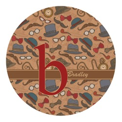 Vintage Hipster Round Decal (Personalized)
