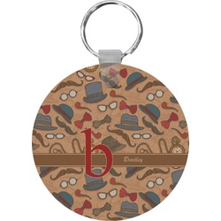 Vintage Hipster Round Keychain (Personalized)