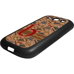 Vintage Hipster Rubber Samsung Galaxy 3 Phone Case (Personalized)