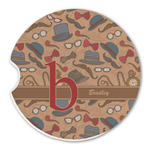 Vintage Hipster Sandstone Car Coasters (Personalized)