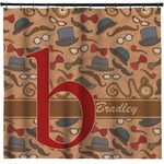 Vintage Hipster Shower Curtain (Personalized)
