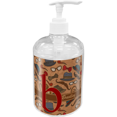 Vintage Hipster Acrylic Soap & Lotion Bottle (Personalized)