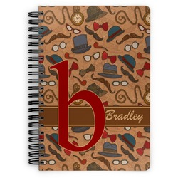 Vintage Hipster Spiral Bound Notebook (Personalized)