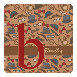 Vintage Hipster Square Decal - Custom Size (Personalized)