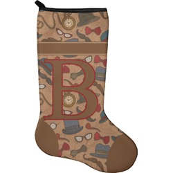 Vintage Hipster Christmas Stocking - Single-Sided - Neoprene (Personalized)