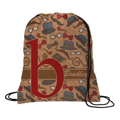 Vintage Hipster Drawstring Backpack (Personalized)