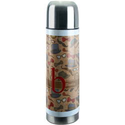 Vintage Hipster Stainless Steel Thermos (Personalized)
