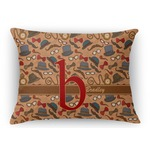 Vintage Hipster Rectangular Throw Pillow (Personalized)