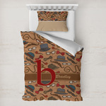Vintage Hipster Toddler Bedding w/ Name and Initial
